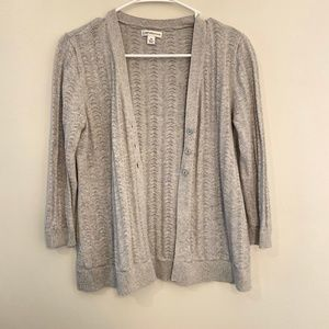 Croft & Barrow | Grey Knit Cardigan Size M